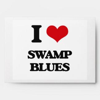 I Love SWAMP BLUES Envelopes