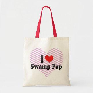 I Love Swamp Pop Tote Bags