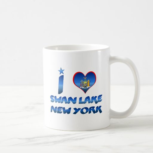 I love Swan Lake, New York Classic White Coffee Mug