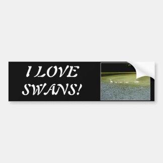 I love swans! bumper sticker