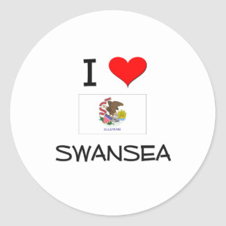 I Love SWANSEA Illinois Sticker