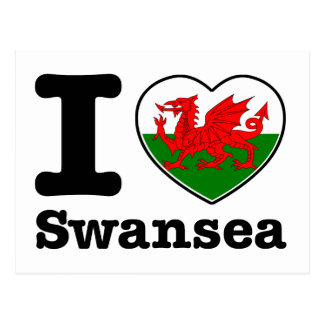 I love Swansea Post Card