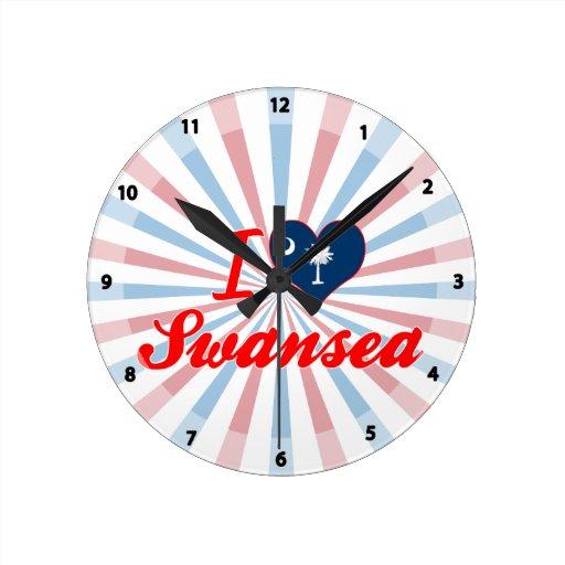 I Love Swansea, South Carolina Clock