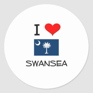 I Love Swansea South Carolina Round Stickers