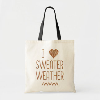 I Love Sweater Weather Budget Tote Bag