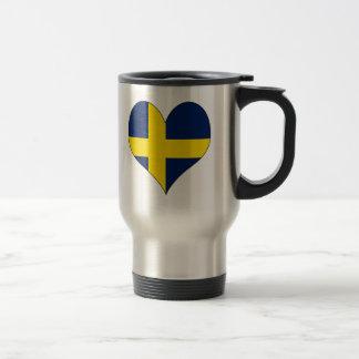 I Love Sweden 15 Oz Stainless Steel Travel Mug