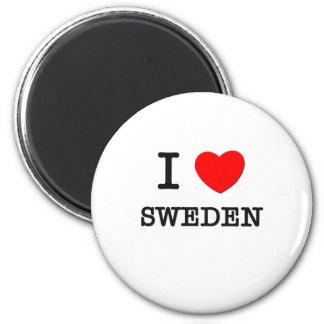 I Love Sweden 2 Inch Round Magnet