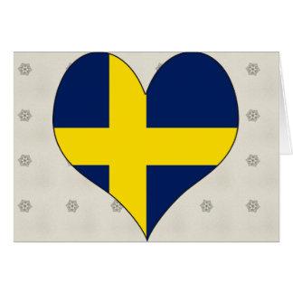 I Love Sweden Card