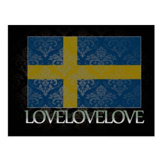 I love Sweden Cool Postcard