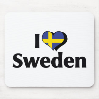 I Love Sweden Flag Mouse Pad
