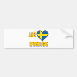 I Love Sweden (Jag Älskar Sverige) Bumper Sticker