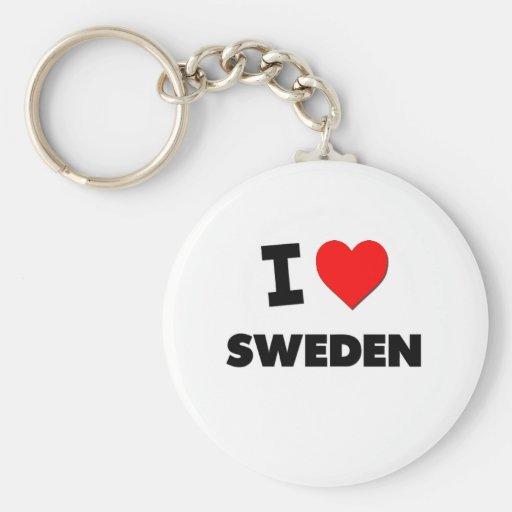 I love Sweden Keychain
