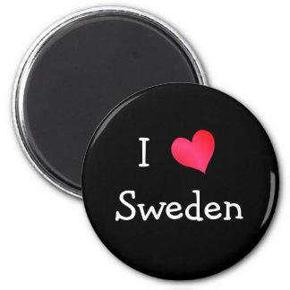 I Love Sweden Magnet