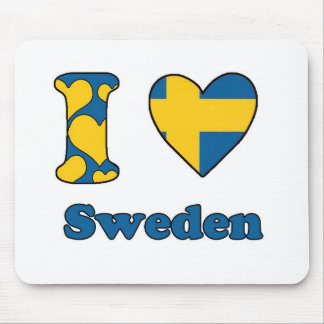 I love Sweden Mouse Pad