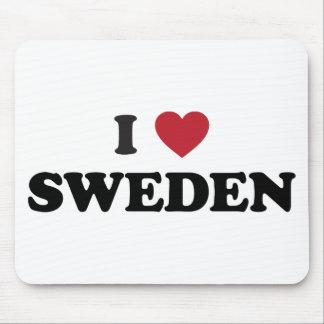 I Love Sweden Mouse Pad