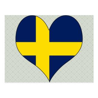 I Love Sweden Post Card