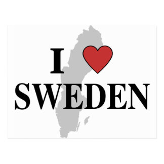 I Love Sweden Postcard