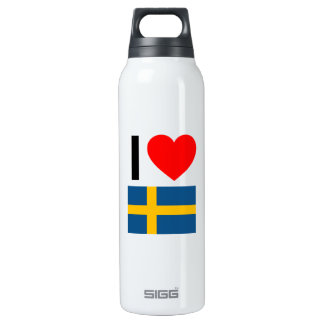 i love sweden 16 oz insulated SIGG thermos water bottle
