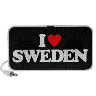I LOVE SWEDEN TRAVELLING SPEAKERS
