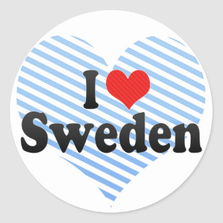 I Love Sweden Sticker