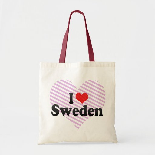 I Love Sweden Tote Bags