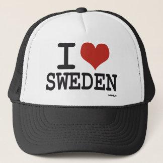 I love Sweden Trucker Hat