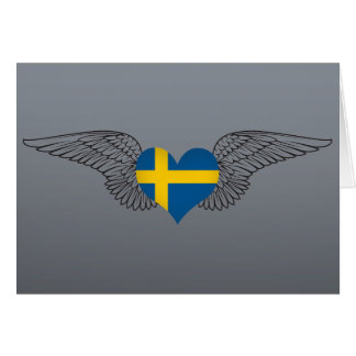I Love Sweden -wings Greeting Card