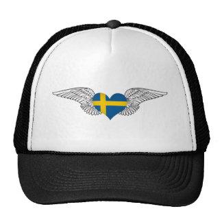 I Love Sweden -wings Trucker Hat