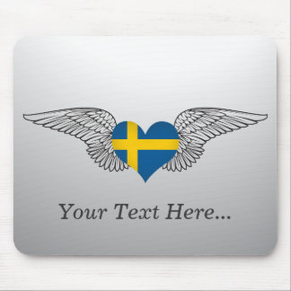 I Love Sweden -wings Mouse Pad
