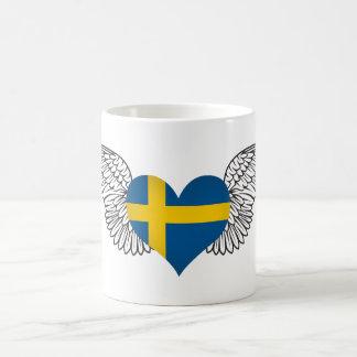 I Love Sweden -wings Classic White Coffee Mug
