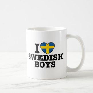 I Love Swedish Boys Classic White Coffee Mug
