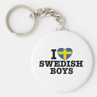 I Love Swedish Boys Keychain