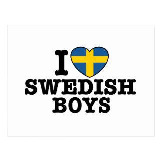 I Love Swedish Boys Postcard