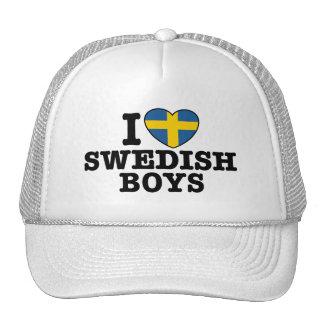 I Love Swedish Boys Trucker Hat