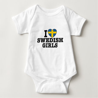 I Love Swedish Girls Baby Bodysuit