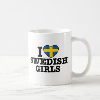 I Love Swedish Girls Classic White Coffee Mug