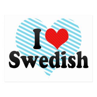 I Love Swedish Postcard