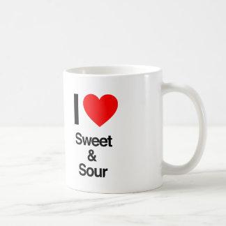 i love sweet and sour coffee mug