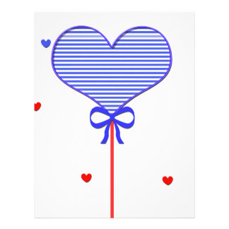 I love sweet march with many candy  hearts letterhead