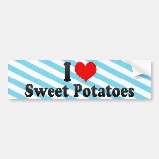 I Love Sweet Potatoes Car Bumper Sticker
