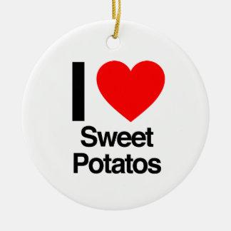 i love sweet potatoes ceramic ornament