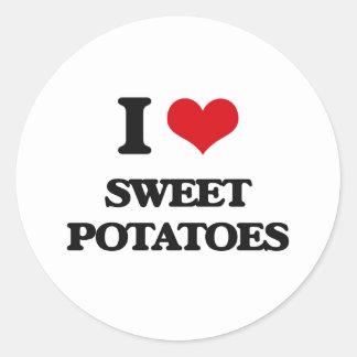 I love Sweet Potatoes Classic Round Sticker