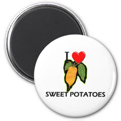 I Love Sweet Potatoes Fridge Magnets