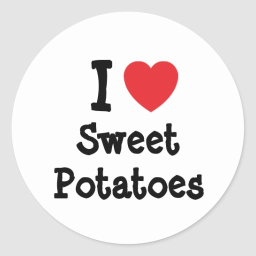 I love Sweet Potatoes heart T-Shirt Stickers