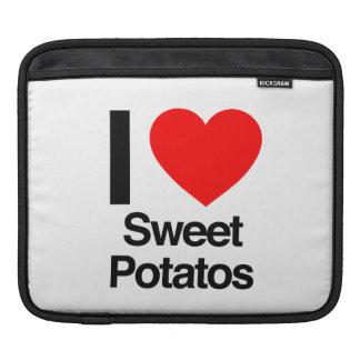 i love sweet potatoes iPad sleeves