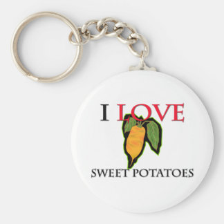 I Love Sweet Potatoes Keychain