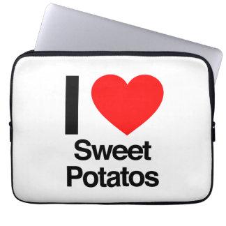 i love sweet potatoes laptop computer sleeve
