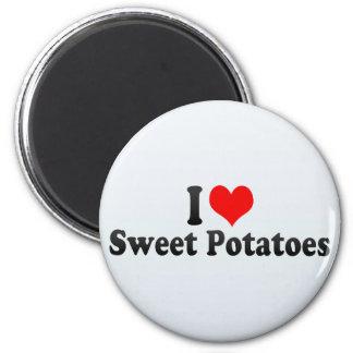 I Love Sweet Potatoes Refrigerator Magnet