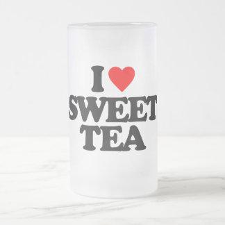 I LOVE SWEET TEA 16 OZ FROSTED GLASS BEER MUG