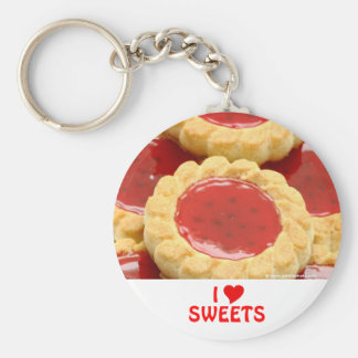 I Love Sweets Basic Round Button Keychain